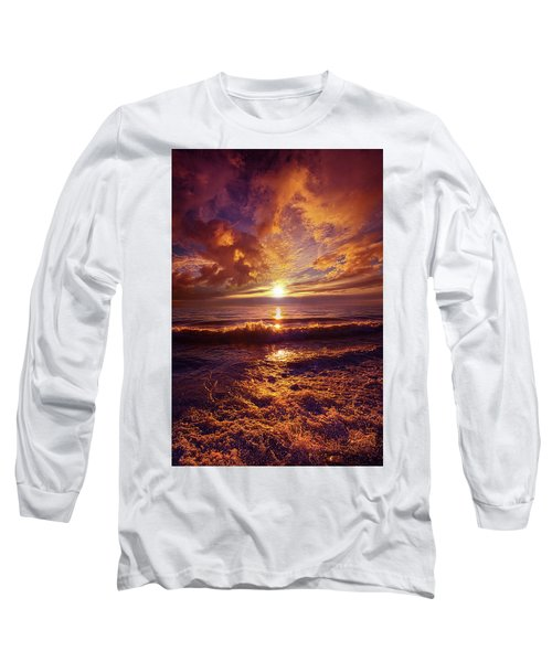 Long Sleeve T-Shirt featuring the photograph Toward The Far Reaches by Phil Koch