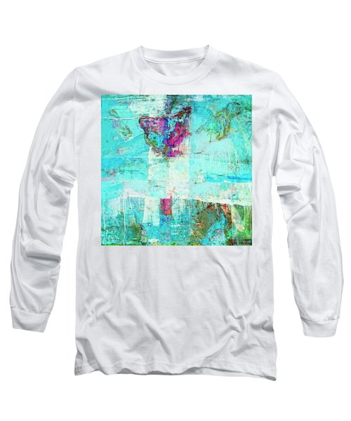 Long Sleeve T-Shirt featuring the painting Towers by Dominic Piperata