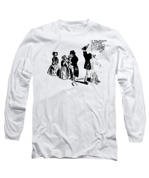 Town Square Grandville Transparent Background Long Sleeve T-Shirt