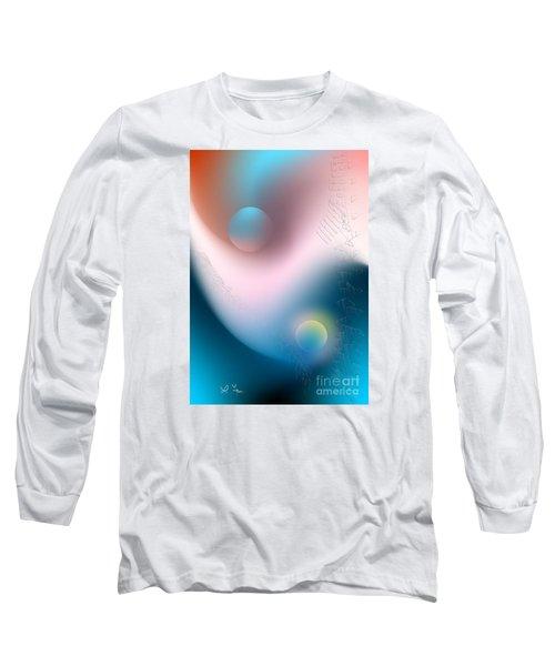 Long Sleeve T-Shirt featuring the digital art Tracks by Leo Symon