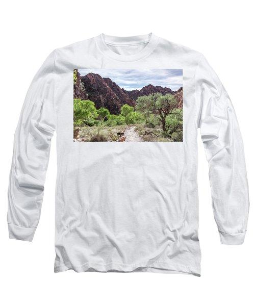 Trail Into Phantom Ranch, Grand Canyon Long Sleeve T-Shirt