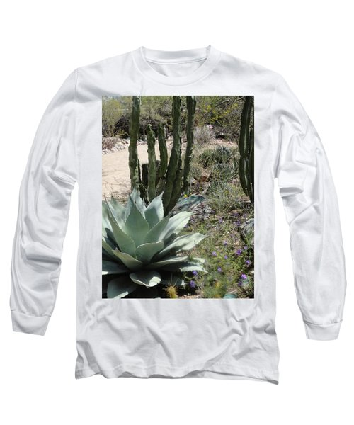 Trail Of Cactus Long Sleeve T-Shirt