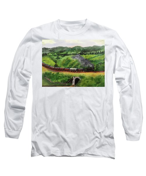 Train In The Country Long Sleeve T-Shirt