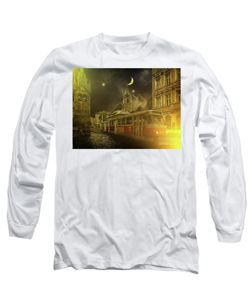Tramatic - Prague Street Scene Long Sleeve T-Shirt