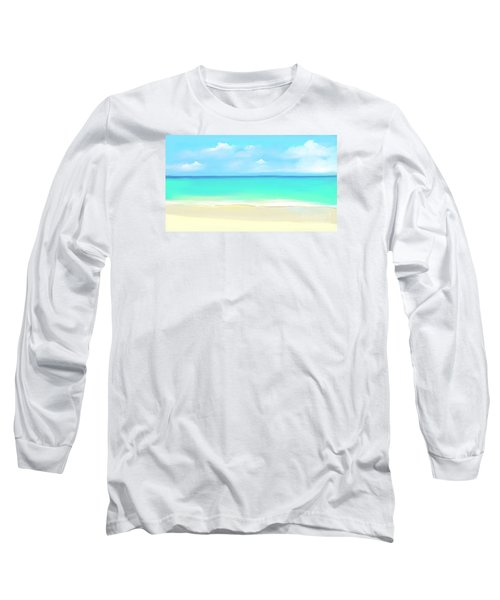 Tranquil Beach Long Sleeve T-Shirt by Anthony Fishburne