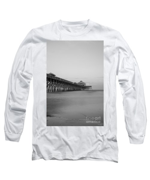 Tranquility At Folly Grayscale Long Sleeve T-Shirt by Jennifer White