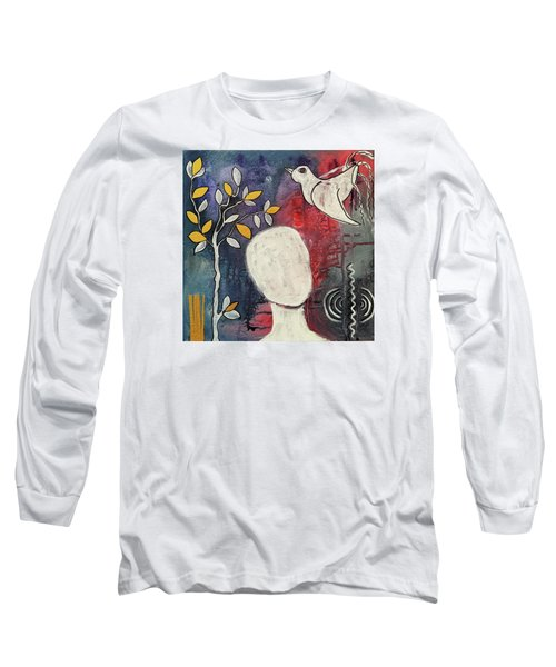 Long Sleeve T-Shirt featuring the mixed media Tranquility by Mimulux patricia no No