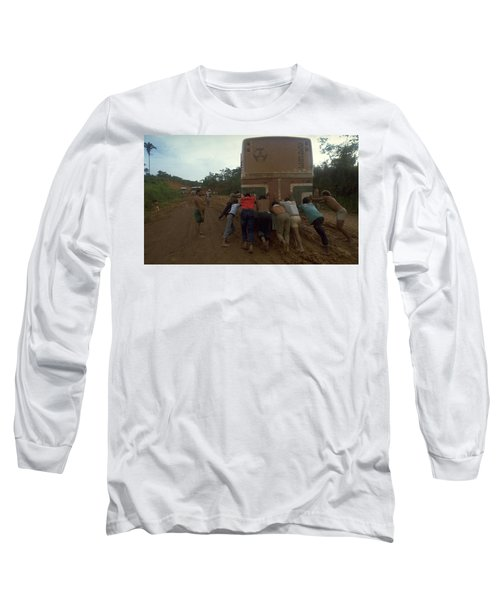 Long Sleeve T-Shirt featuring the photograph Trans Amazonian Highway, Brazil by Travel Pics