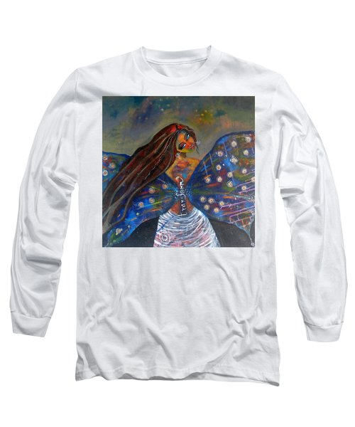Long Sleeve T-Shirt featuring the painting Transform by Prerna Poojara