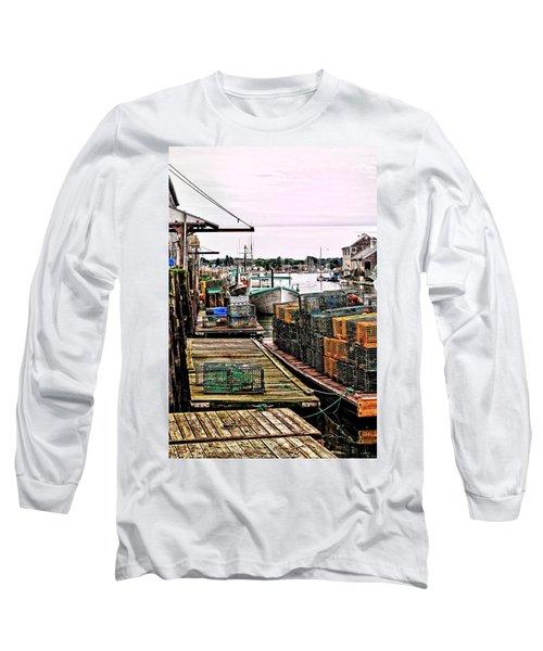 Traps Portland Maine Long Sleeve T-Shirt by Tom Prendergast