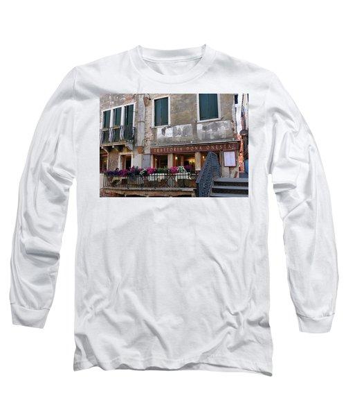 Trattoria Dona Onesta In Venice, Italy Long Sleeve T-Shirt