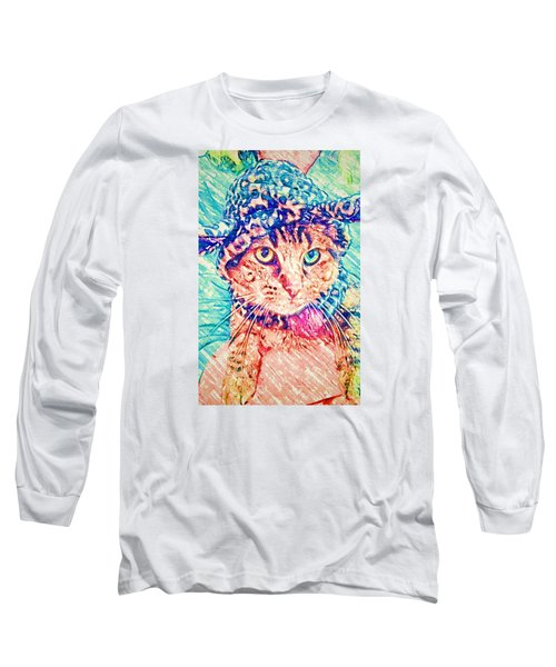 Trav With Hat Long Sleeve T-Shirt by Jan Amiss Photography