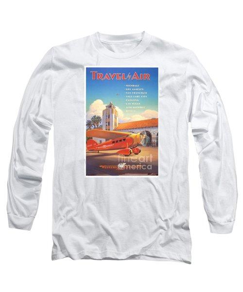 Travel By Air Long Sleeve T-Shirt by Nostalgic Prints