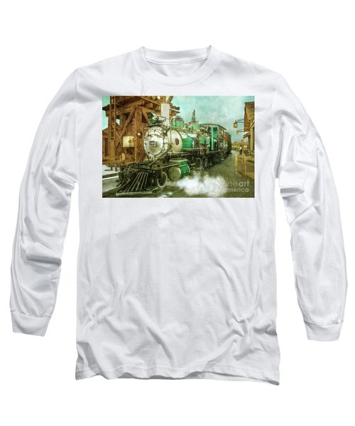 Traveling By Train Long Sleeve T-Shirt by Claudia Ellis