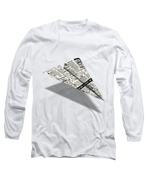 Treasure Chest Of Fun Comic Book Ad Paper Airplane Long Sleeve T-Shirt