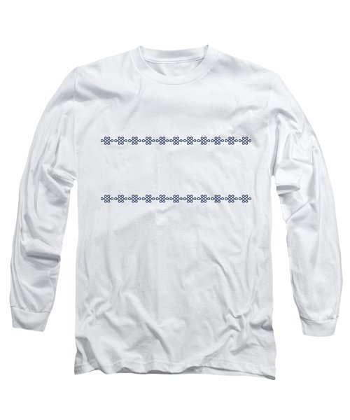 Treasure Knot In Blue Long Sleeve T-Shirt