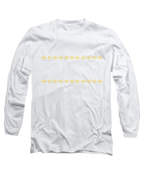 Treasure Knot In Yellow Long Sleeve T-Shirt