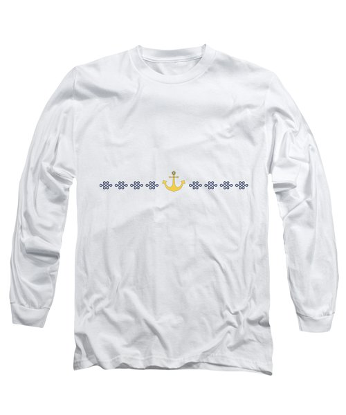 Treasure Knot With Yellow Anchor  Long Sleeve T-Shirt