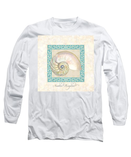 Treasures From The Sea - Nautilus Shell Interior Long Sleeve T-Shirt