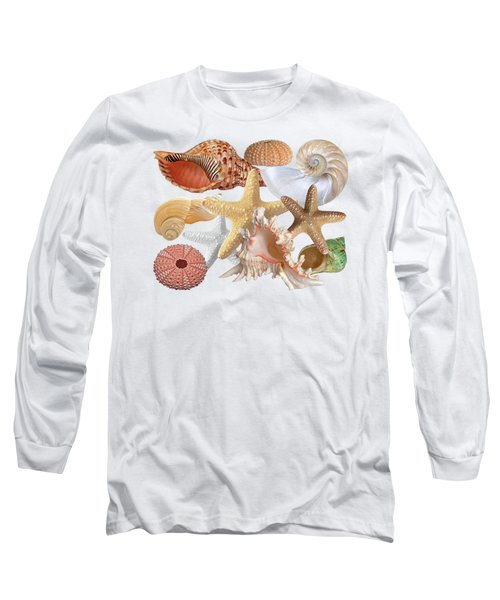 Treasures Of The Deep On White Long Sleeve T-Shirt