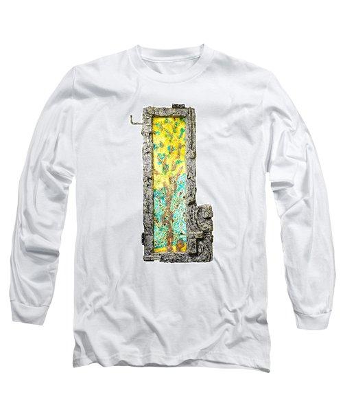 Tree And Stump Inside A Window Long Sleeve T-Shirt