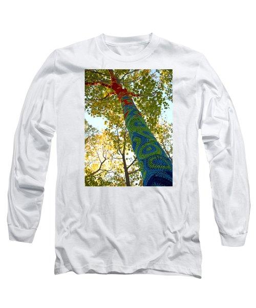 Tree Crochet Long Sleeve T-Shirt by  Newwwman