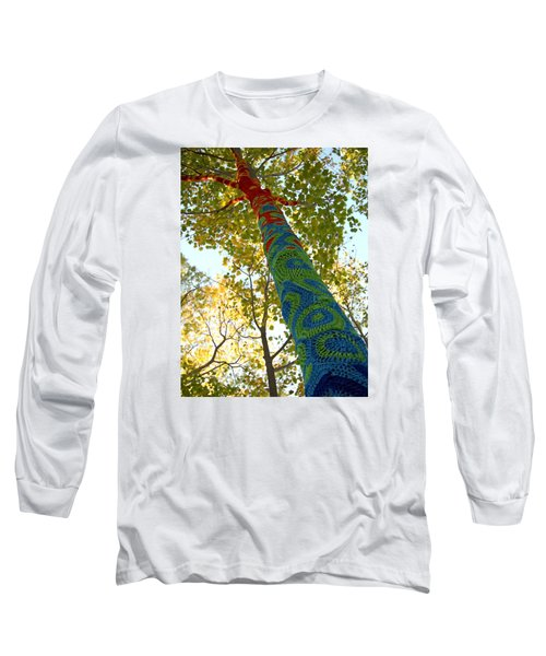 Tree Crochet Long Sleeve T-Shirt