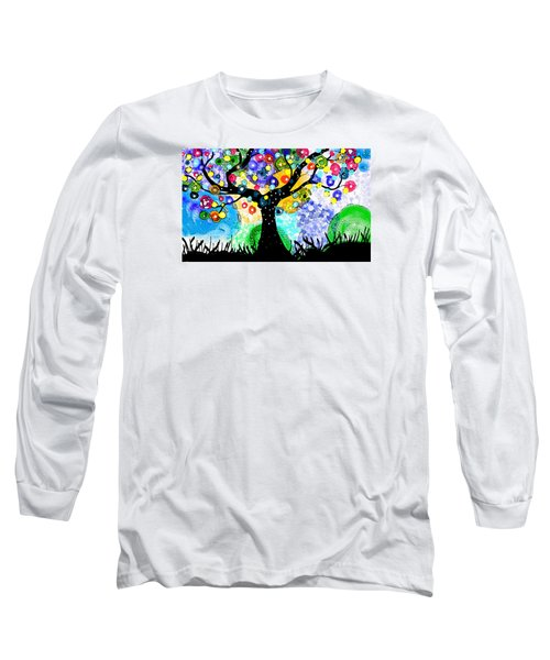 Long Sleeve T-Shirt featuring the painting Tree Dance by Patricia Arroyo