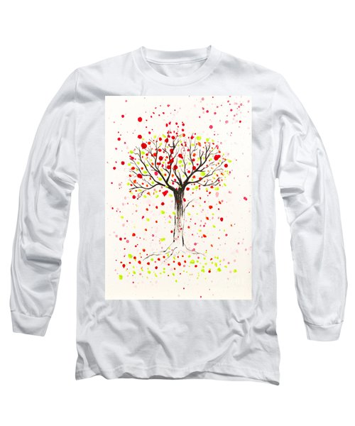 Tree Explosion Long Sleeve T-Shirt by Stefanie Forck