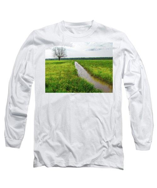 Tree In Field 2 Long Sleeve T-Shirt