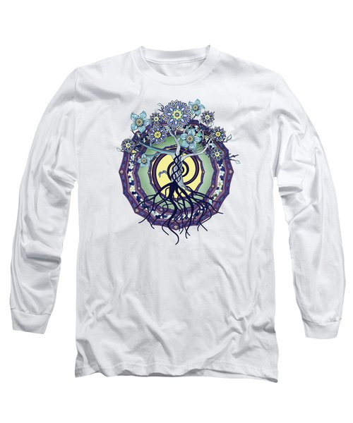 Tree Of Enlightenment Abstract Long Sleeve T-Shirt by Deborah Smith