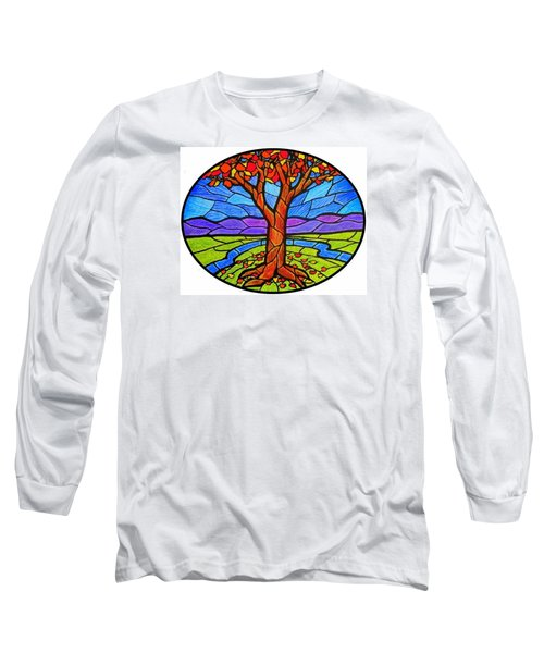 Tree Of Grace - Autumn Long Sleeve T-Shirt by Jim Harris