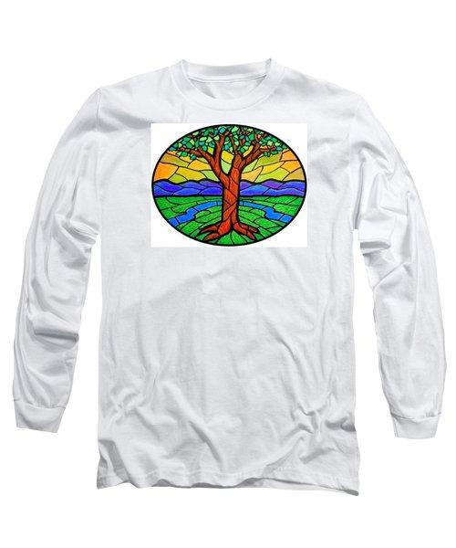 Tree Of Grace - Summer Long Sleeve T-Shirt by Jim Harris