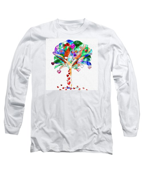 Tree Of Hearts Long Sleeve T-Shirt