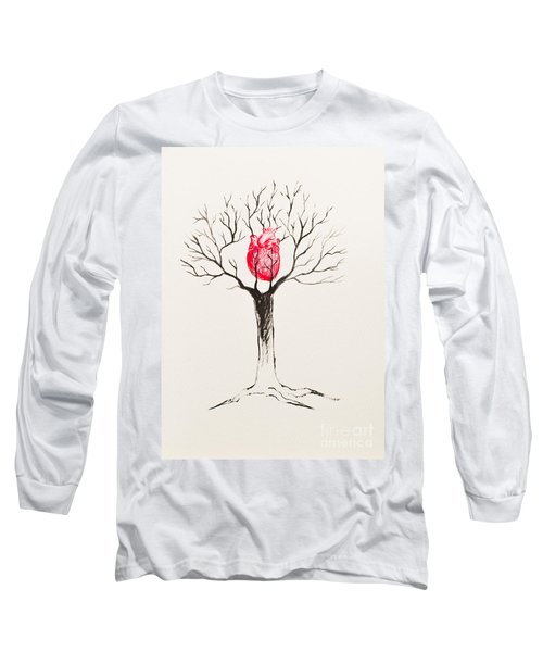 Tree Of Hearts Long Sleeve T-Shirt by Stefanie Forck