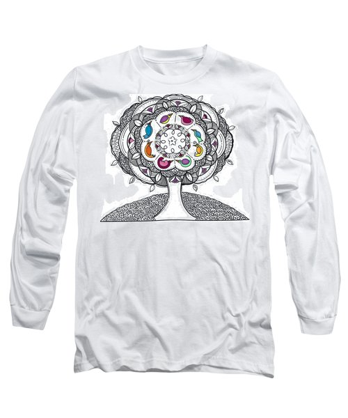 Tree Of Life - Ink Drawing Long Sleeve T-Shirt