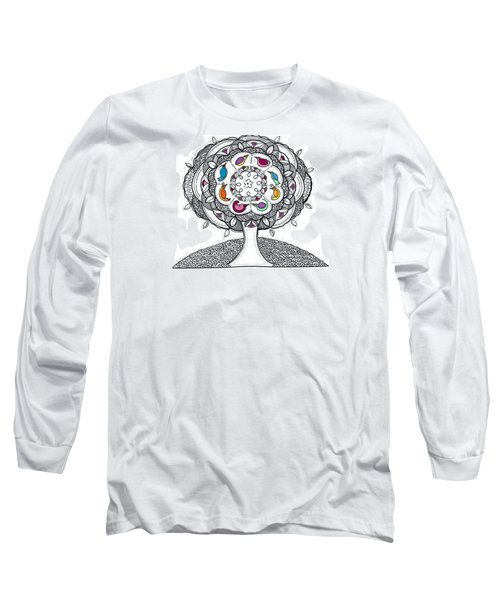 Tree Of Life - Ink Drawing Long Sleeve T-Shirt