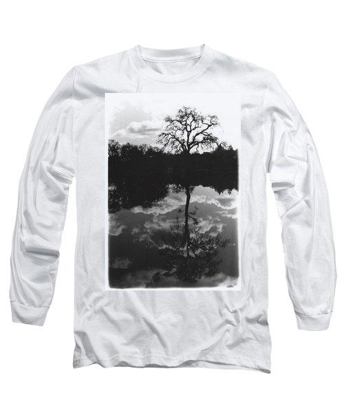 Tree Reflection Sebastopol Ca, Long Sleeve T-Shirt