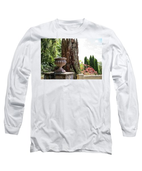 Tree Stump And Concrete Planter Long Sleeve T-Shirt