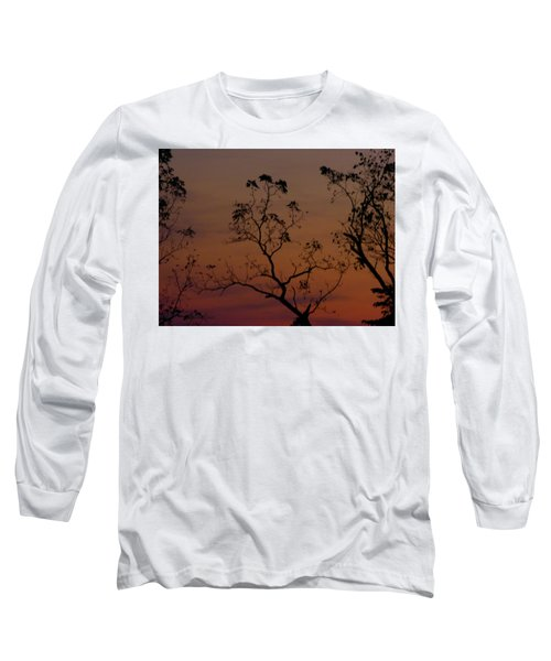 Tree Top After Sunset Long Sleeve T-Shirt by Donald C Morgan