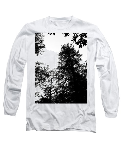 Tree Tops In Monotone Long Sleeve T-Shirt