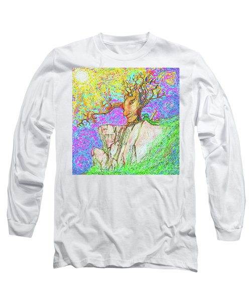 Tree Touches Sky Long Sleeve T-Shirt by Hidden Mountain and Tao Arrow