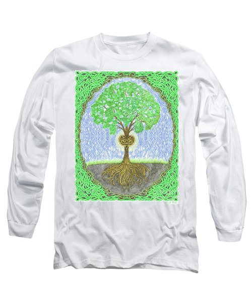 Tree With Heart And Sun Long Sleeve T-Shirt