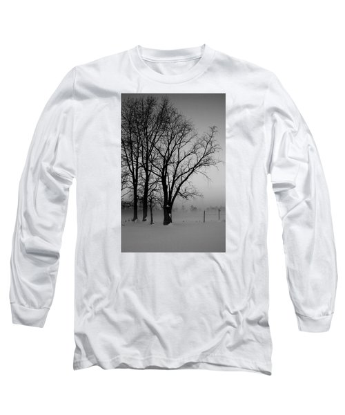 Trees In The Fog Long Sleeve T-Shirt by Karen Harrison