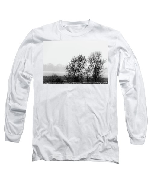 Trees In The Mist Long Sleeve T-Shirt by Jay Stockhaus