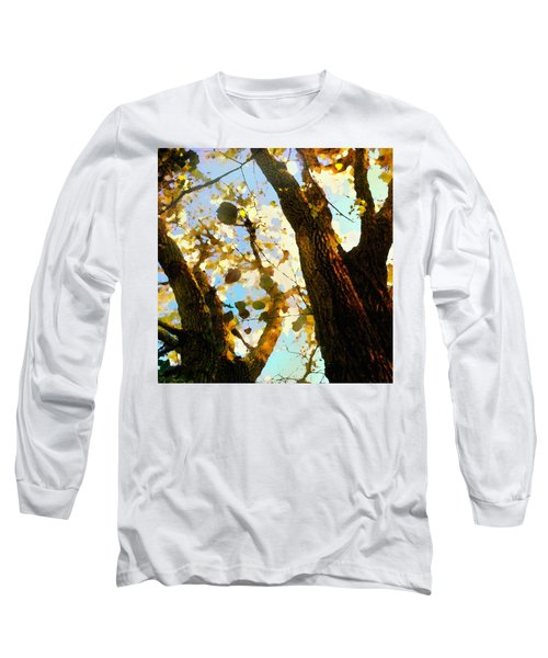 Treetop Abstract-look Up A Tree Long Sleeve T-Shirt