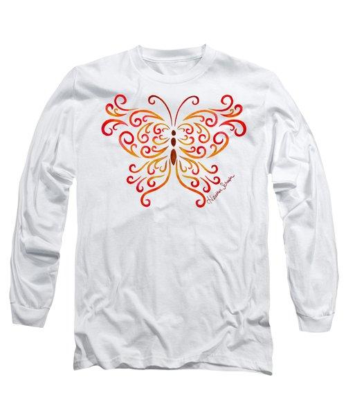 Tribal Butterfly Long Sleeve T-Shirt