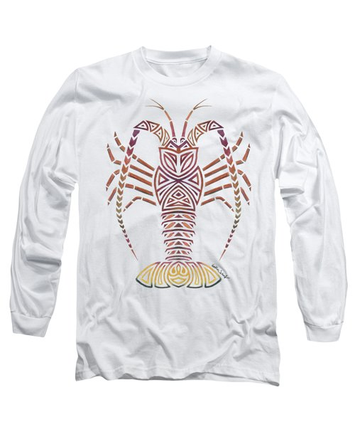 Tribal Caribbean Lobster Long Sleeve T-Shirt