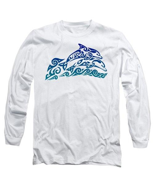 Tribal Dolphins Long Sleeve T-Shirt