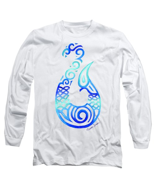 Tribal Fish Hook Long Sleeve T-Shirt